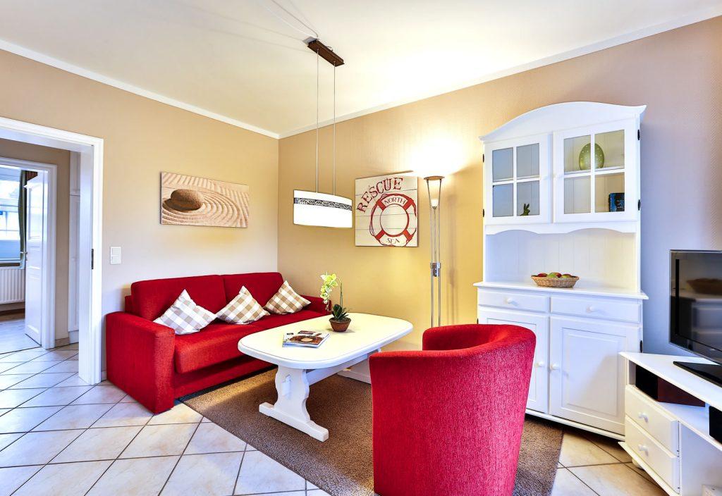 2 Zimmer Ferienwohnung Blum Sylt Wohnbereich