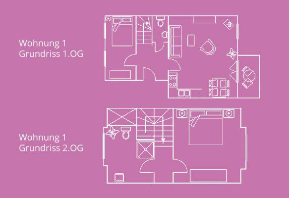 Ferienwohnung Inselperle Whg-1 Grundriss