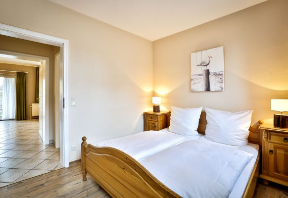 2 Zimmer Ferienwohnung Blum Sylt Schlafzimmer